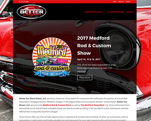 Better Car Shows LLC Website