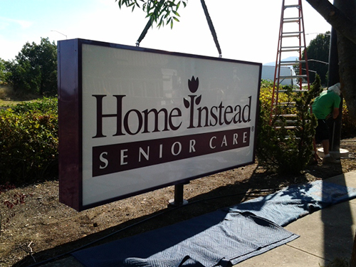 Home Instead Senior Care Backlit Pole Sign